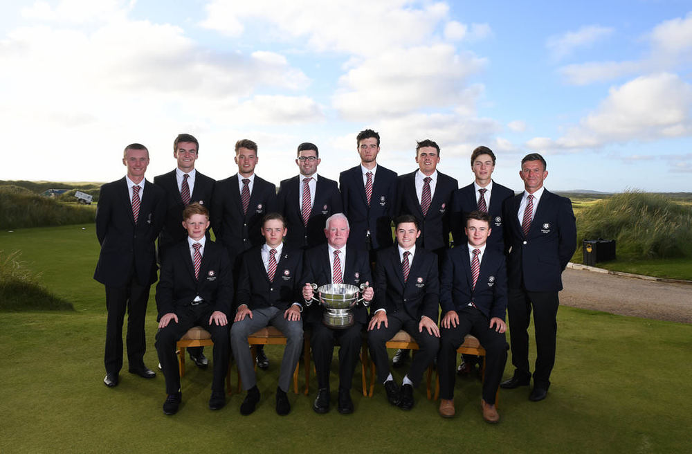 The winning England team at the 2016 Boys Home Internationals. Credit The R&A.