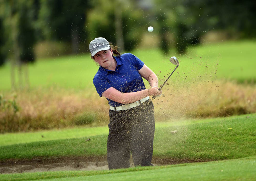 Niamh McSherry (Lurgan) during the final of 2016 Irish Girls Close Championship at Kilkenny Golf Club. Picture by  Pat Cashman