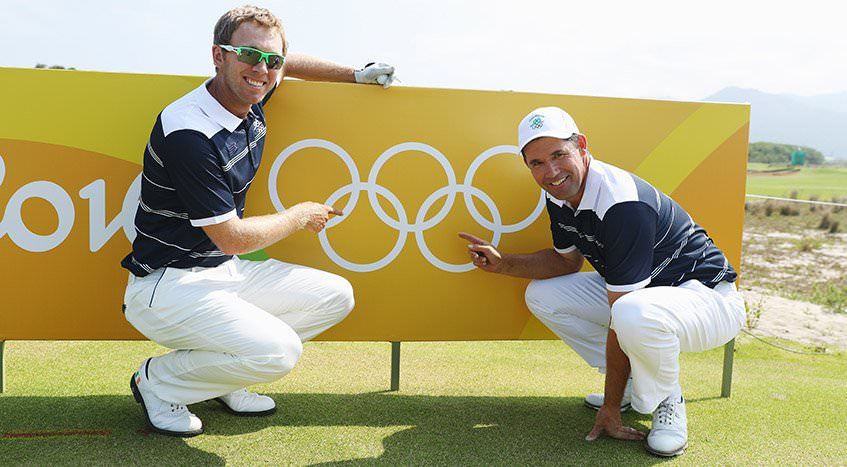 Seamus Power and Pádraig Harrington in Rio