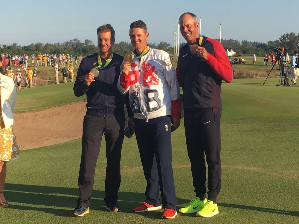Henrik Stenson, Justin Rose and Matt Kuchar