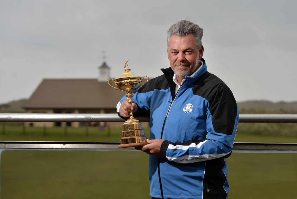 Darren Clarke during the Ryder Cup trophy tour earlier this year. Picture: Charles McQuillan/Getty