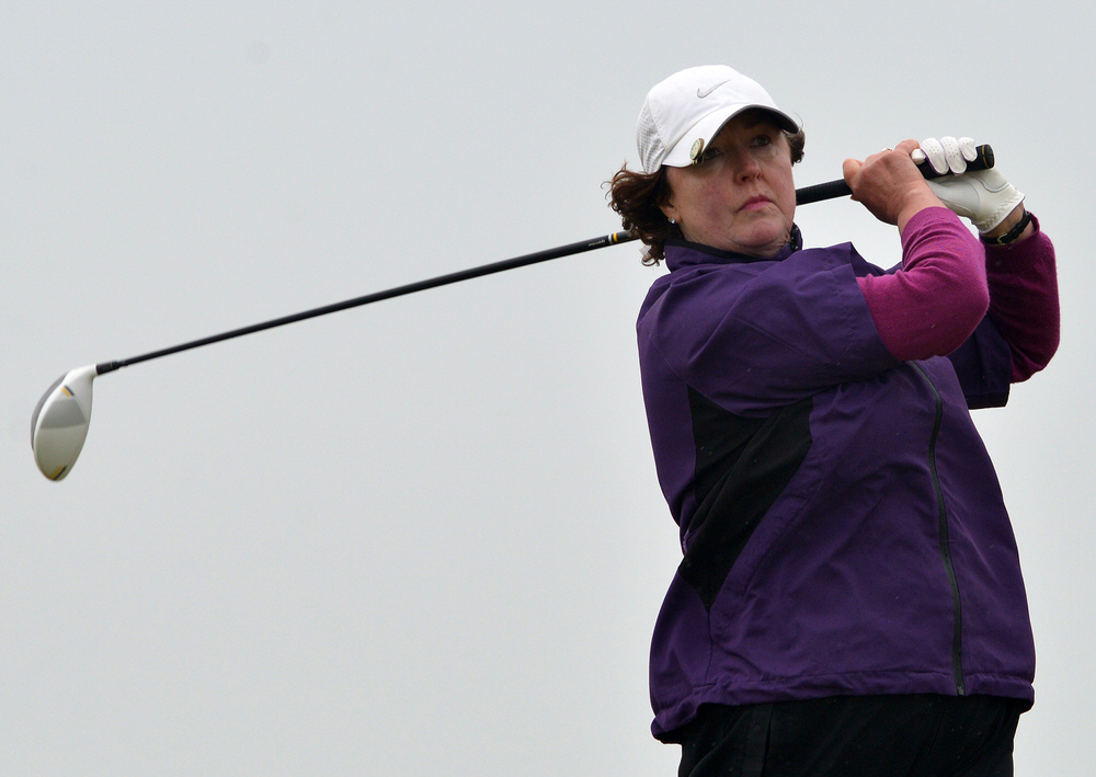 Suzanne Corcoran (Portumna) during in the final round of the 2015 Irish Senior Women's Open Strokeplay at Rosslare. Picture by  Pat Cashman
