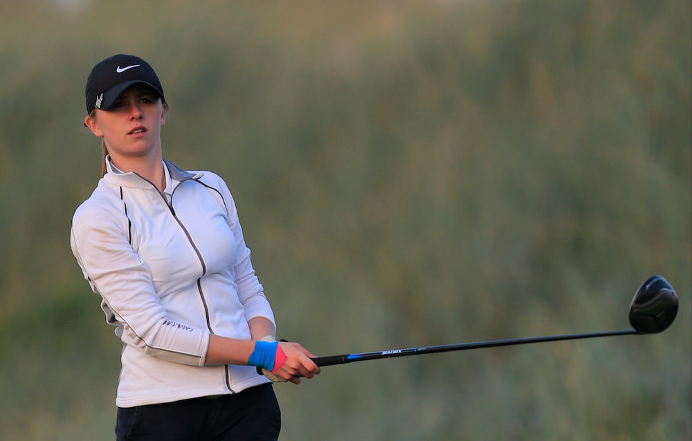 Rachel Taylor (TCD) during the Irish Intervarsity Championship at Rosslare. Picture:  Thos Caffrey / www.golffile.ie