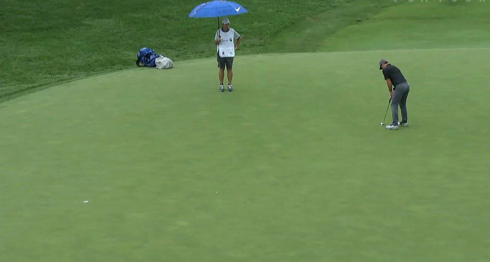 Rory McIlroy birdies the tour seventh at Crooked Stick from 29 feet. It's his longest putt of the week so far.