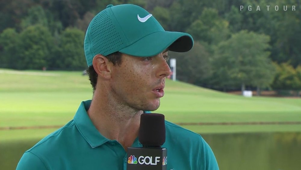 Rory McIlroy speaks to the Golf Channel