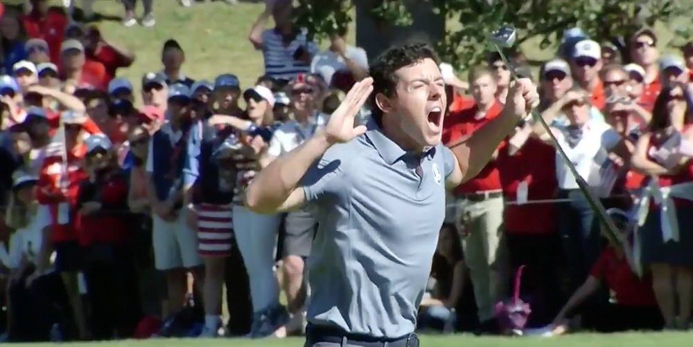 Rory McIlroy loses it on the eighth