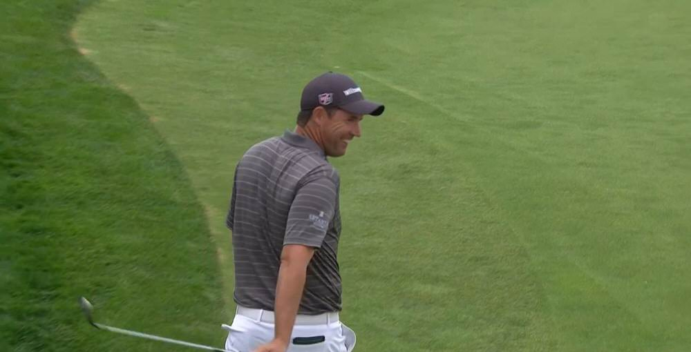 Pádraig Harrington didn't need his putter at the 11th