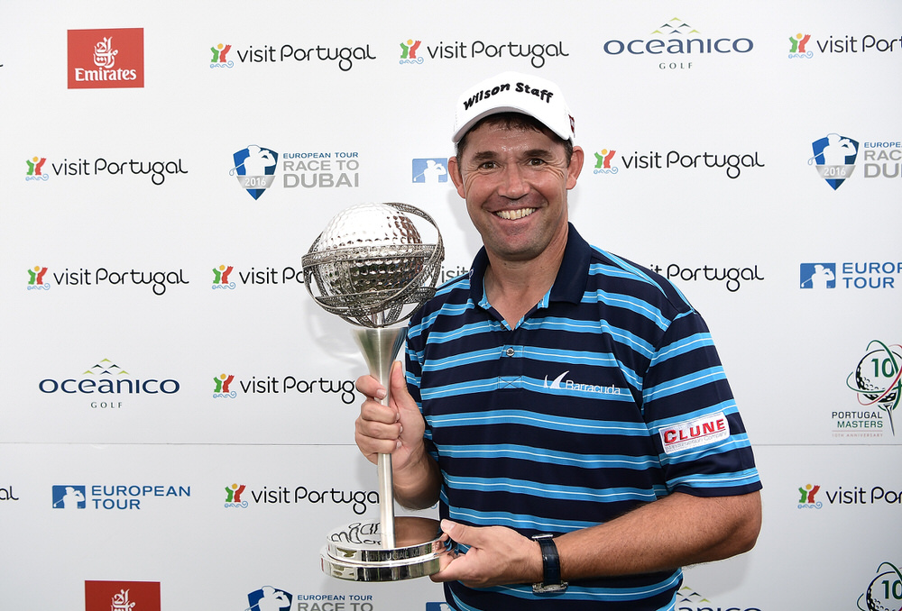 Pádraig Harrington with the 2016 Portugal Masters trophy