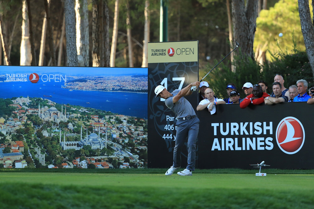 ANTALYA, TURKEY - NOVEMBER 05:  Thorbjorn Olesen of Denmark tees off on the 17th hole during day three of the Turkish Airlines Open at the Regnum Carya Golf & Spa Resort on November 5, 2016 in Antalya, Turkey.  (Photo by Richard Heathcote/Getty Images)