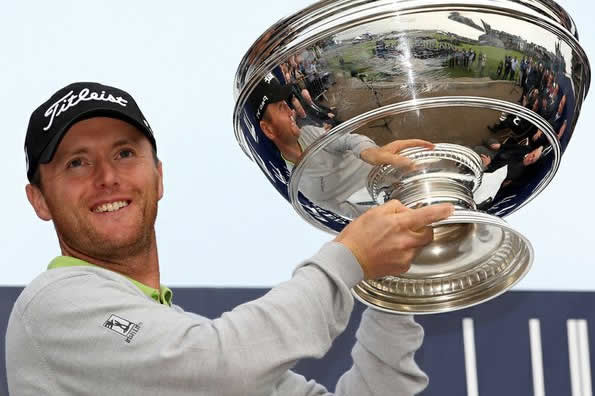 Michael Hoey with the Alfred Dunhill Links trophy, one of his five European Tour wins