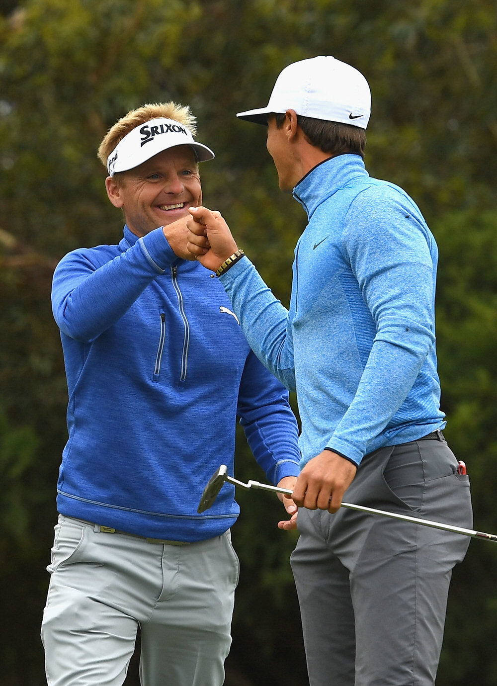 Soren Kjeldsen and Thorbjorn Olesen. Picture: Getty Images