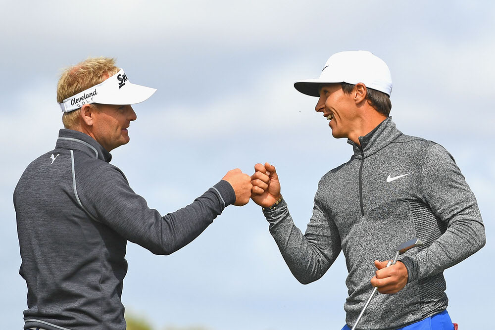 horbjorn Olesen and Soren Kjeldsen. Picture Getty Images