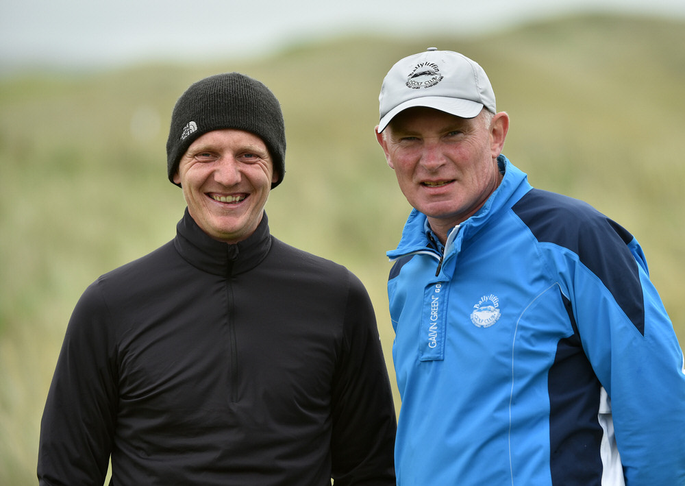 Ballyliffin's Gareth McCausland (Professional) and John Farren (General Manager) at the AIG Irish Amateur Close Championship at Ballyliffin Golf Club.(20/08/2016). Picture by Pat Cashman