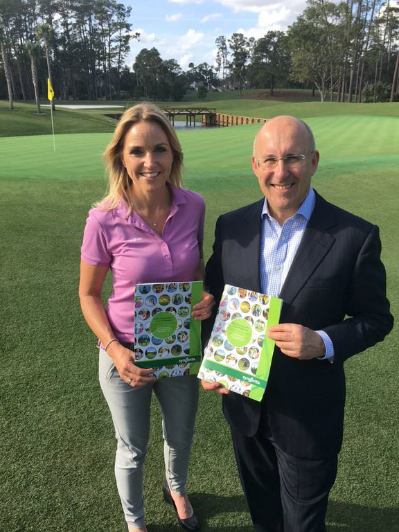 Syngenta Golf Ambassador, Carin Koch and Syngenta Global Head of Lawn & Garden, Jeff Cox launched the new report at the HSBC Golf Business Forum