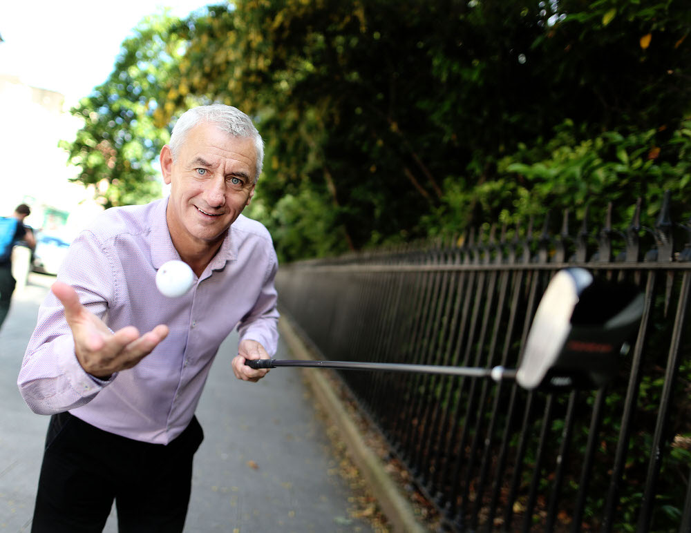 Ian Rush on a charity visit to Dublin