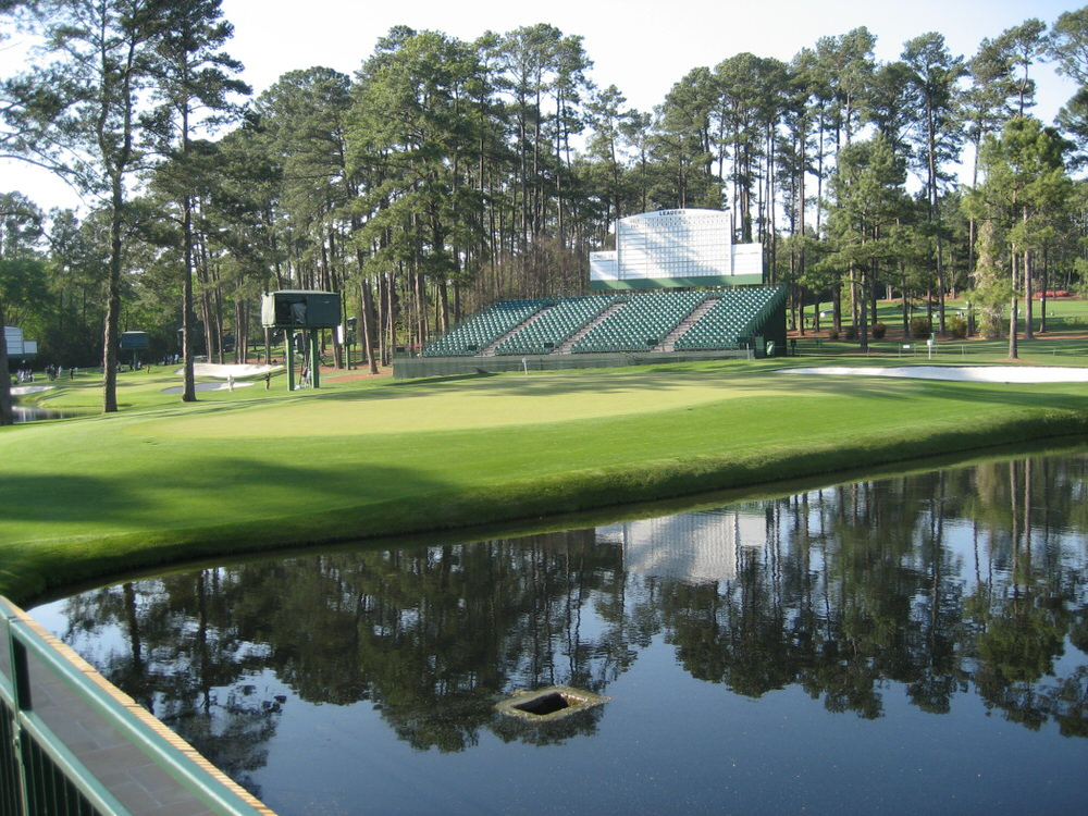 The 15th green at Augusta National. Picture © Brian Keogh