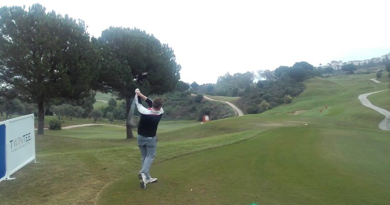 Bushfoot's Owen Crooks hits his opening tee shot in Stage One of the  Alps Tour Q-School at La Cala in Spain