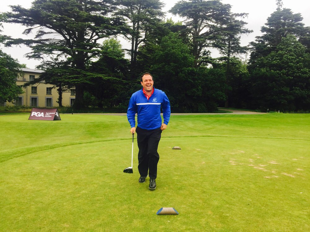 James Quinlivan in action at Carton House