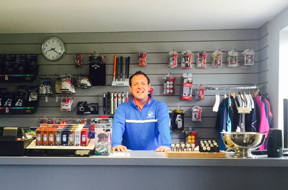 James Quinlivan in his shop at Mullingar Golf Club