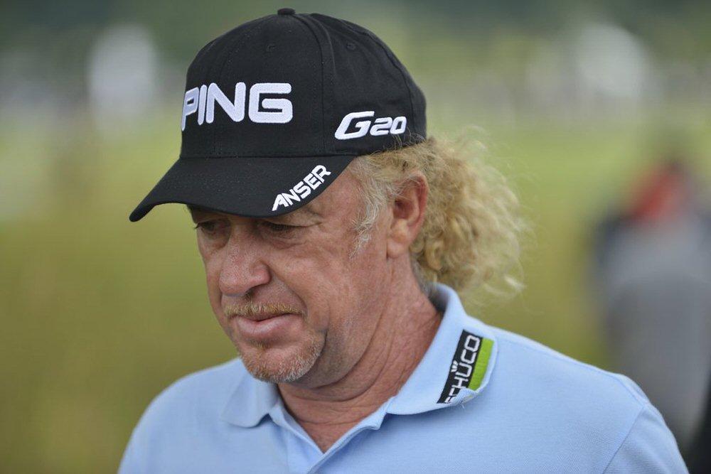 Miguel Angel Jimenez at the Schüco Open 2012, Golfclub Gut Kaden. Ronald Ali-Khan