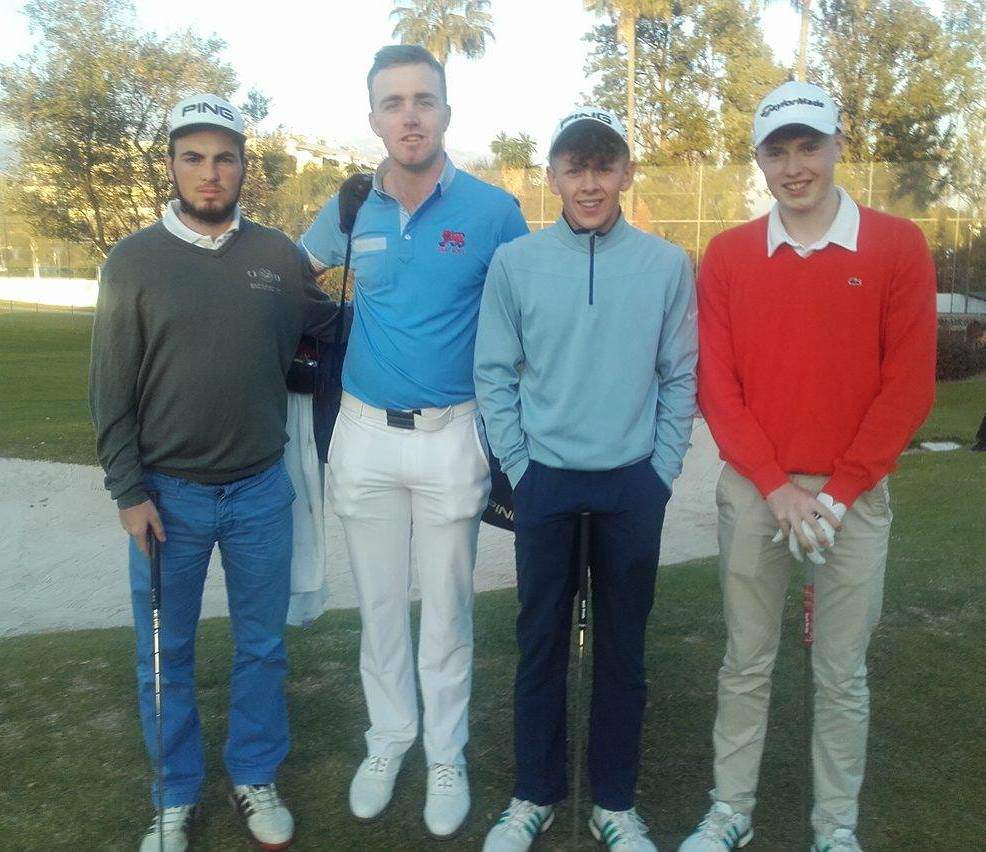 Eamonn O'Driscoll, Thomas Mulligan, John Brady and Mark Power at Real Club de Golf Guadalmina