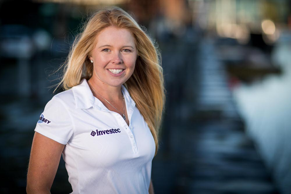 New Investec signing Stephanie Meadow poses at Grand Canal Dock. Picture: INPHO/Morgan Treacy