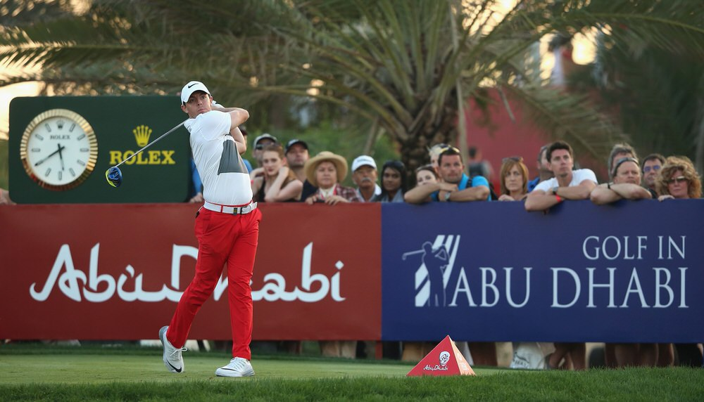 ABU DHABI, UNITED ARAB EMIRATES - JANUARY 23:  Rory McIlroy of Northern Ireland in action during the third round of the 2016 Abu Dhabi HSBC Golf Championship. Picture: Andrew Redington/Getty Images