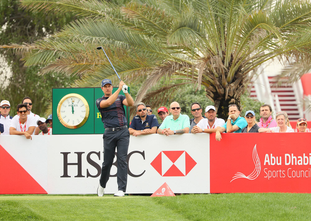ABU DHABI, UNITED ARAB EMIRATES - JANUARY 19:  Henrik Stenson of Sweden hits his tee shot on the ninth hole during the first round of the Abu Dhabi HSBC Championship at the Abu Dhabi Golf Club on January 19, 2017 in Abu Dhabi, United Arab Emirates.  (Photo by Andrew Redington/Getty Images)