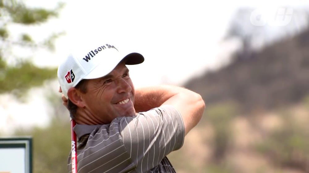 Pádraig Harrington had an injection last Sunday to ease a pinched nerve his neck