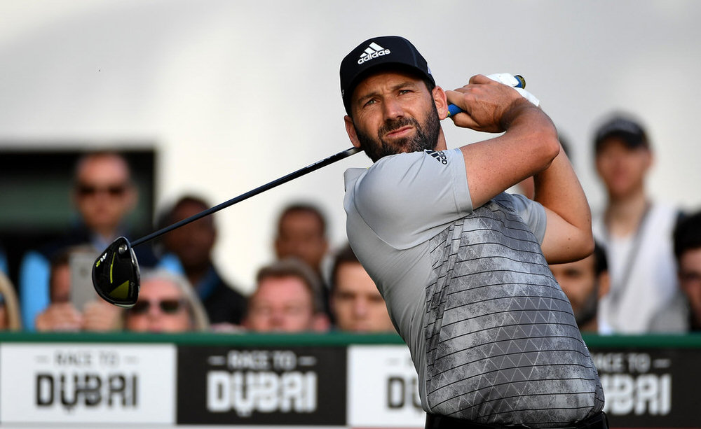 DUBAI, UNITED ARAB EMIRATES - FEBRUARY 02:  Sergio Garcia of Spain on the 10th tee during the first round of the Omega Dubai Desert Classic at Emirates Golf Club on February 2, 2017, in Dubai, United Arab Emirates.  (Photo by Ross Kinnaird/Getty Images)