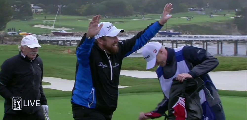 Shane Lowry was in high spirits at Pebble Beach.