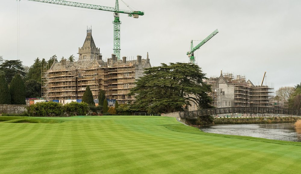 The new 18th green at Adare Manor