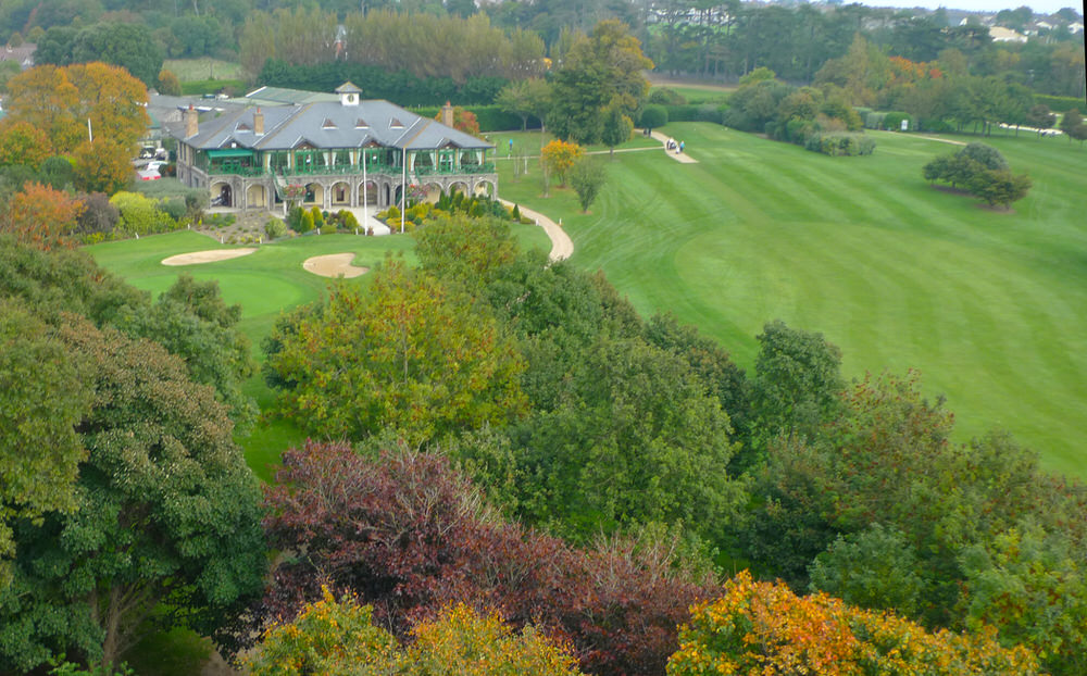 The new clubhouse at Malahide in autumn