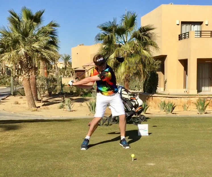 David Carey in action at Sokhna Golf Club in Egypt
