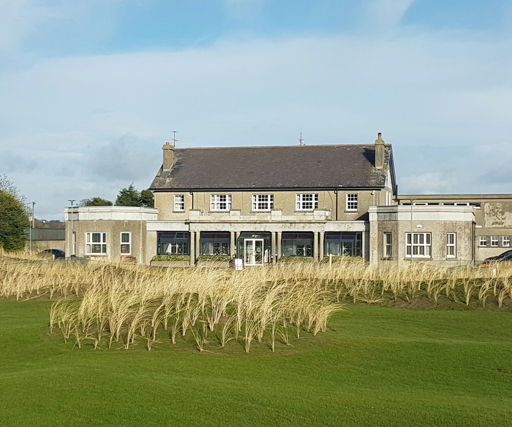 A new look for County Louth, which now boasts a fine short game area in front of the clubhouse and a new car park on the site of the tennis courts