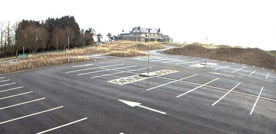 The new car park on the site of the tennis courts