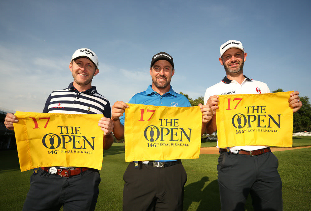 Darren Fichardt, Paul Waring and Stuart Manley qualify for The 146th Open at Royal Birkdale. Credit:  The R&A