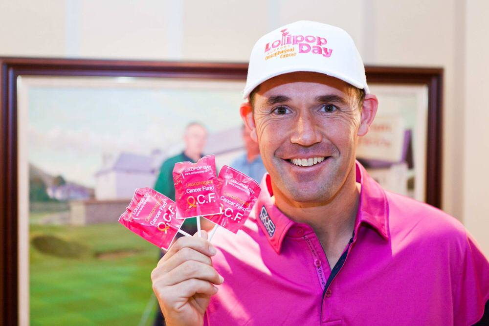 Pádraig Harrington is encouraging the public to buy a lollipop and support Lollipop Day in aid of the Oesophageal Cancer Fund, this Friday and Saturday, March 3-4.  http://lollipopday.ie/