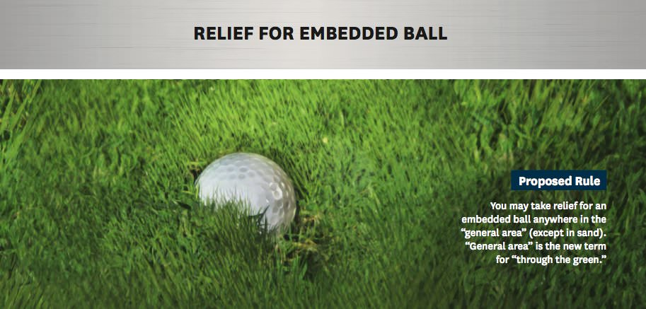 Relief for embedded ball
