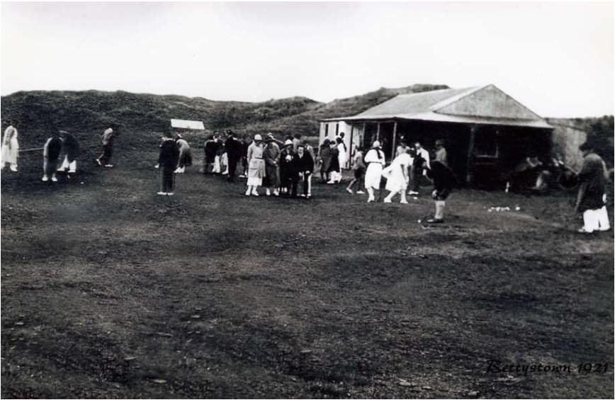 A gathering at the clubhouse at Laytown and Bettystown in 1921