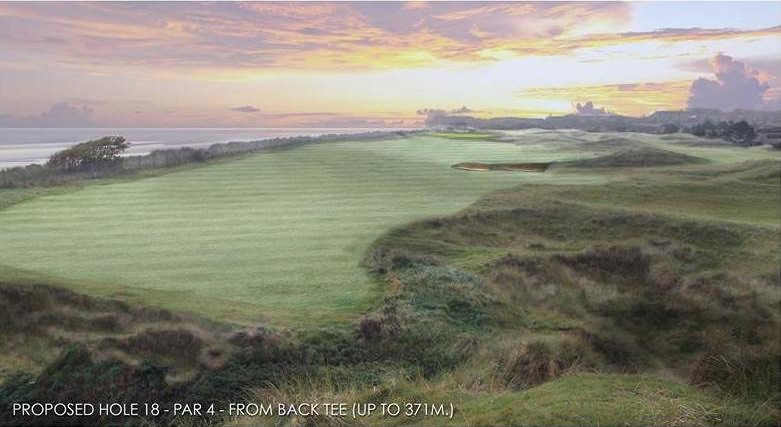 The proposed new 18th at Laytown and Bettystown. Graphic by Spogárd & Van der Vaart