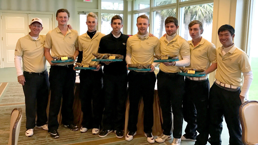 Paul McBride (fourth from the right) with the Wake Forest team