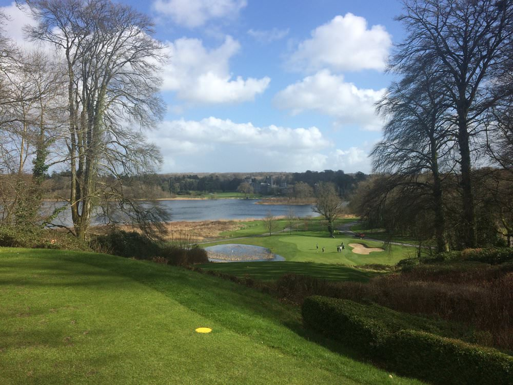 The par-three seventh at Dromoland Golf Club