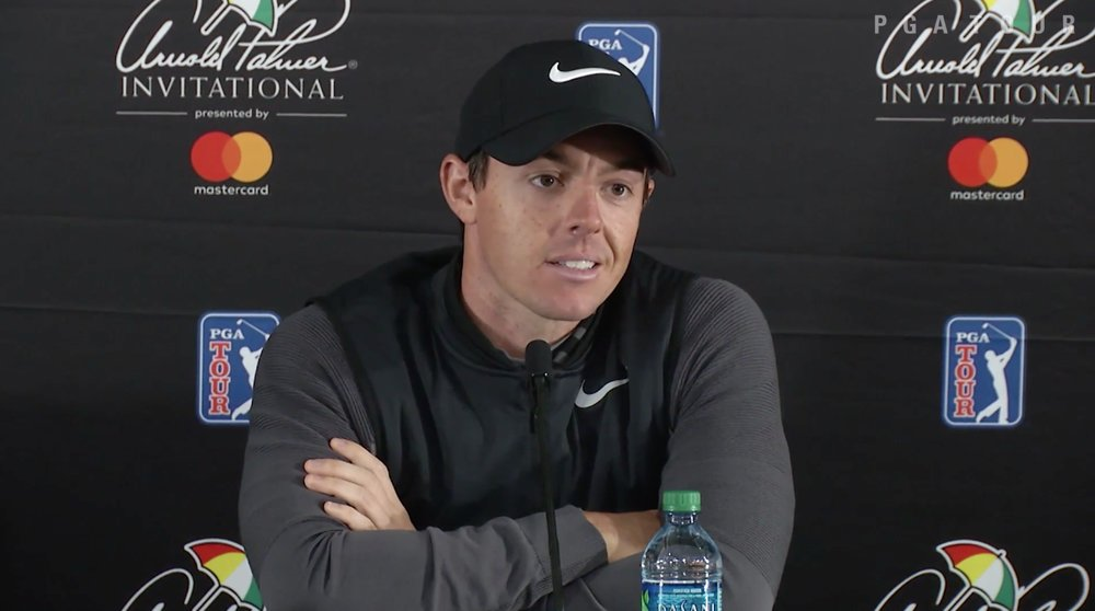 Rory McIlroy speaks at Bay Hill