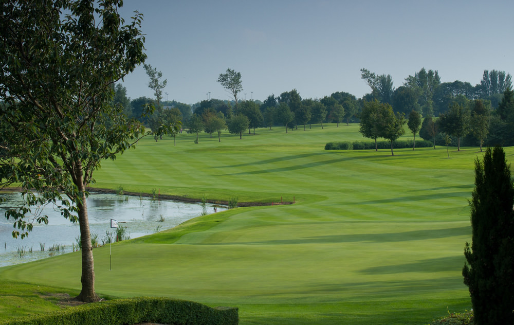 The stunning 18th at St Margaret's Golf and Country Club