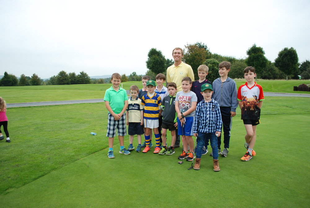 Seamus Power with a group of his fans at his home club, West Waterford