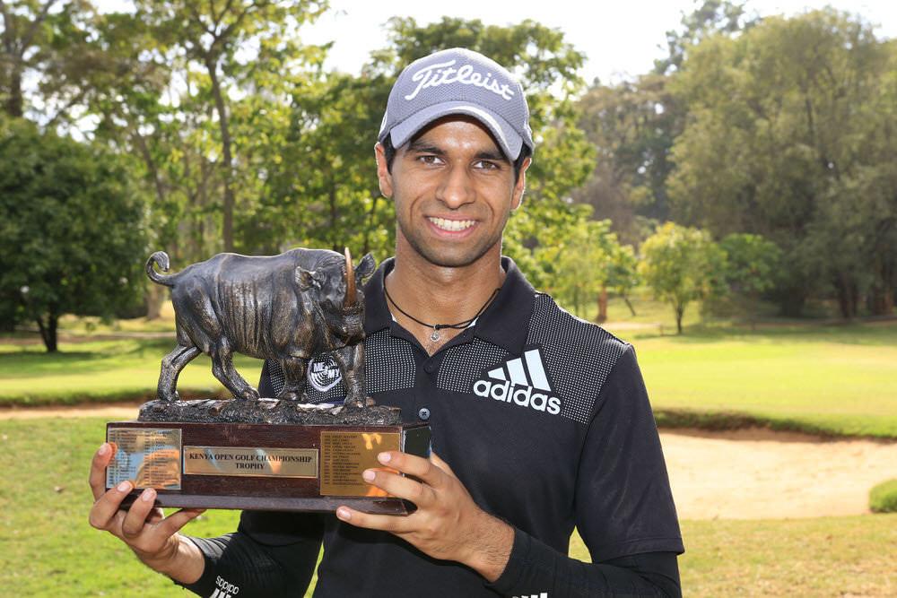 Barclays Kenya Open winner Aaron Rai. Picture: IMG Kenya