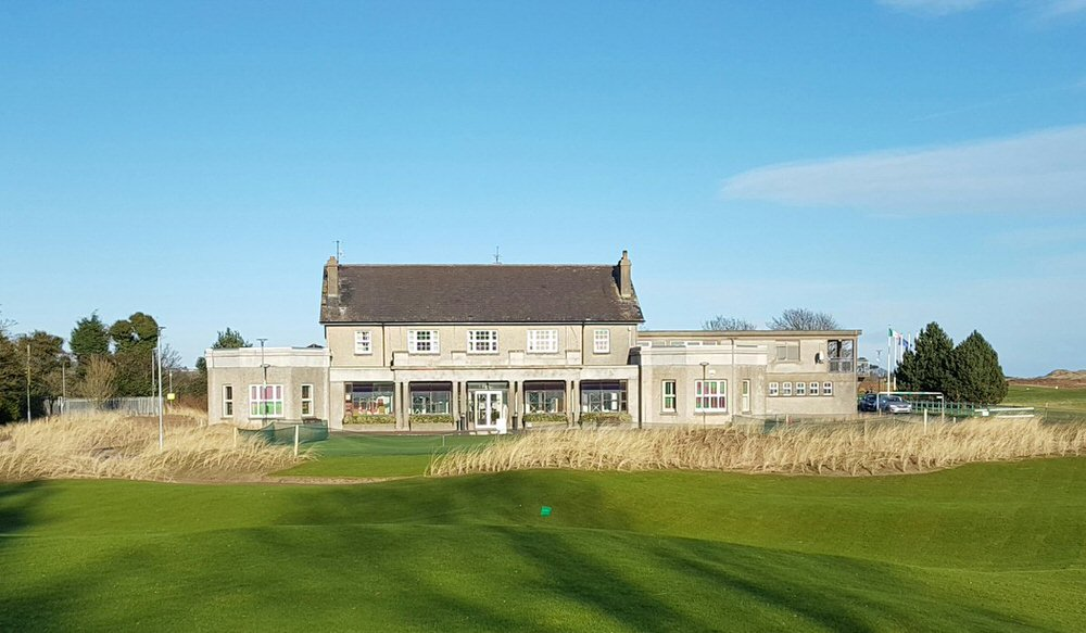 The clubhouse and the new short game area at County Louth Golf Club