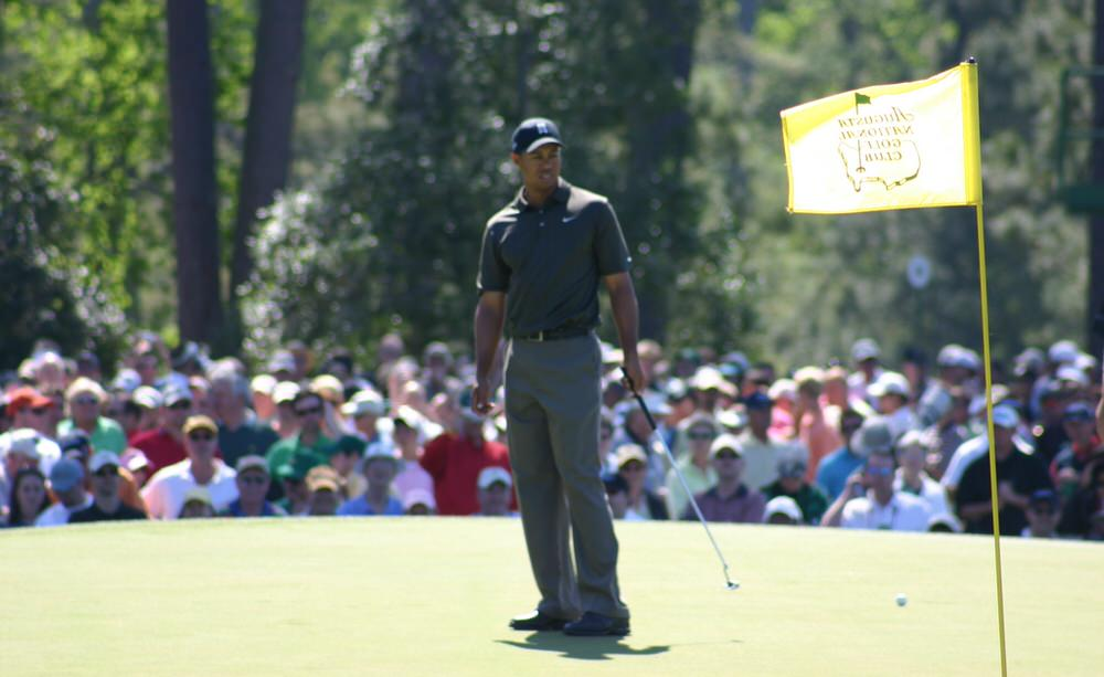 Tiger Woods at Augusta National in 2006