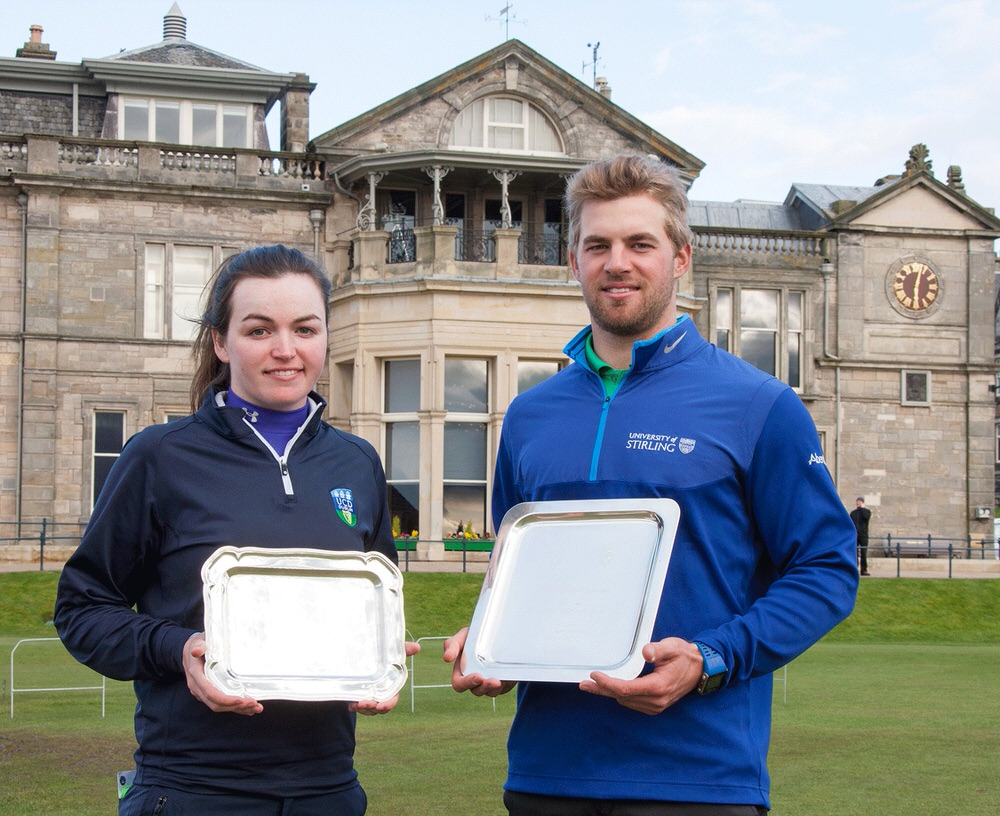 Chloe Ryan and Mathias Eggenberger won The R&A Foundation Scholars Tournament in 2016